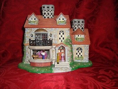 Partylite THE BRISTOL HOUSE P7322 3rd Olde World Village Tealight House Series