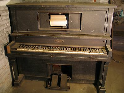 Mathushek Antique Piano Upright Victorian Style late 1800's New Haven, Ct