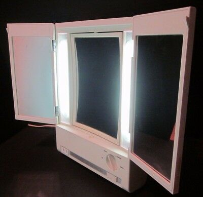 Modified Vtg Clairol True-To-Light VIII LM-8 Lighted Makeup Mirror Plug Outlet