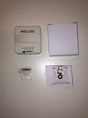 WILLIAMS COMFORT PRODUCTS P322016 Wall Mount Thermostat,1V,Surface G9612583