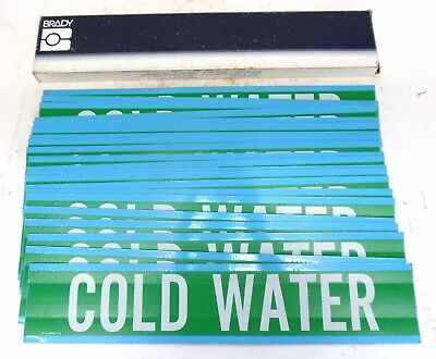 Brady 36132 Cold Water Pipe Marker, Box Of 21