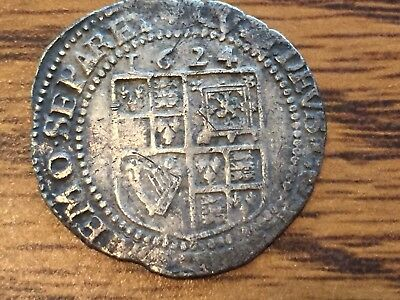James l 1624 Silver Sixpence