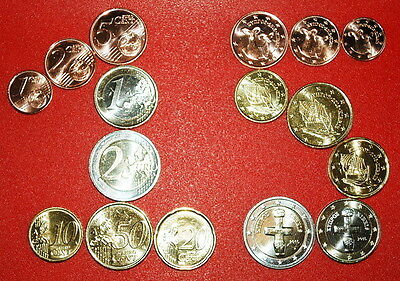 § Ships And Animals: Cyprus ★ Euro Set 8 Coins 2015! Low Start★No Reserve!