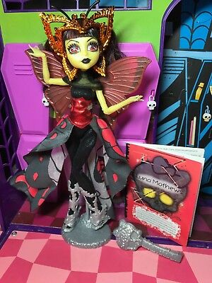 Monster High Doll - Luna Mothews - Boo York Complete - Great Condition