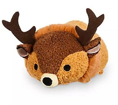 """Disney Tsum 3.5"""" Mini Bambi Great Prince Of Forest Deer Authentic Usa Plush Nwt"""
