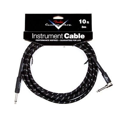 Fender® Custom Shop Performance Series Instrument Cable, 10FT, Black, Angled