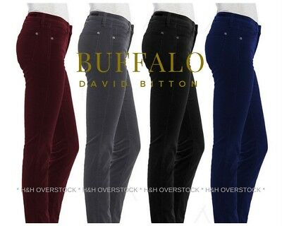 Buffalo David Bitton Women's Supreme Mid Rise Skinny Stretch Corduroy Pants