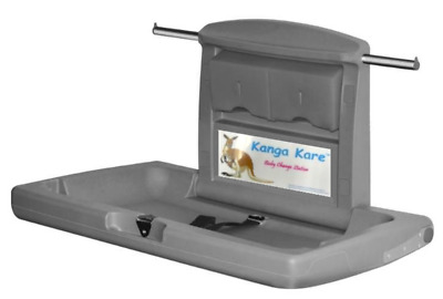 KK8001-01 Kanga Kare Grey Baby Change Station Horizontal Wall Mounted
