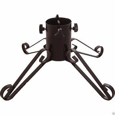 """Black Traditional Wrought Iron Metal Christmas Tree Stand  - 4"""" Trunk  7ft Tree"""