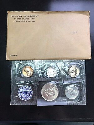 1958 US MINT COIN SET. Half Dollar Not Proof
