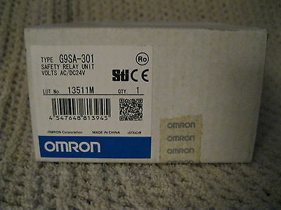 Omron G9Sa-301 Safety Relay Unit Ac/dc 24 V Factory Sealed