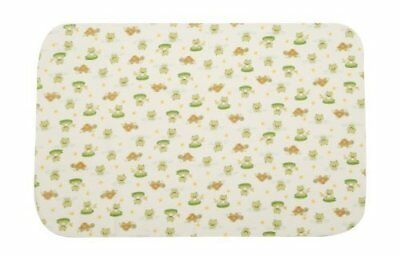 Carter's Keep Me Dry Flannel Bassinet Pad, Lily Pad Frog .