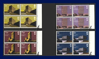 1971 SG890-893 3p-9p Universities Set (4) Marginal Blocks of 4 MNH afzf