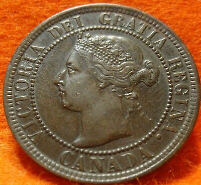 1900 H XF-AU High Grade CANADA LARGE CENT Victoria COIN NoRes CANADIAN