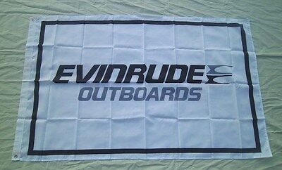 Evinrude Outboards Flag Boat Motor 3' X 5' BANNER Indoor / Outdoor 243