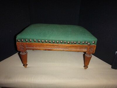 Antique Footstool w. Carved Legs .....Very Sweet