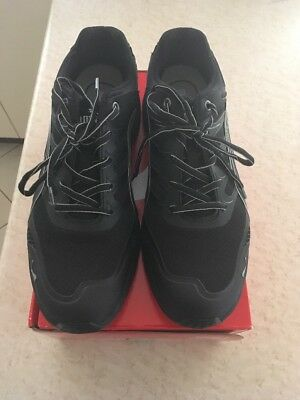 Puma Black And Silver Safety Work Shoes Size 12