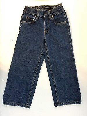 Kids Jeans Straight Fit Dark Wash Size 4R New With Tags Basic editions