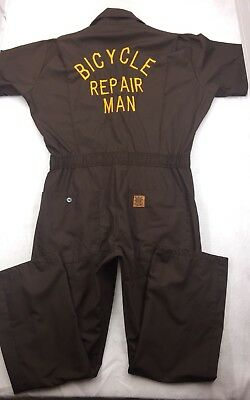 Vintage BICYCLE REPAIR MAN USA MADE Big Ben Wrangler Coveralls Overalls #2229