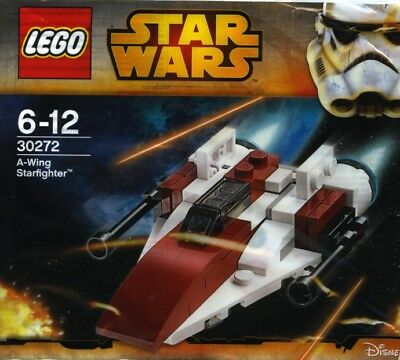 Brand New Sealed Lego Star Wars 30272 A-Wing Starfighter Polybag Retired Rare
