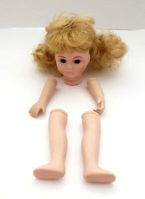 Porcelain Doll Parts Head With Wig, Pair Of Arms&Legs For Doll Making Repair