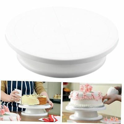 Rotating Revolving Plate Decorating Cake Turntable Kitchen Display Stand 28cm EC