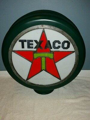 1910's-20's Texaco Leaded Stained Glass Gas Pump Globe