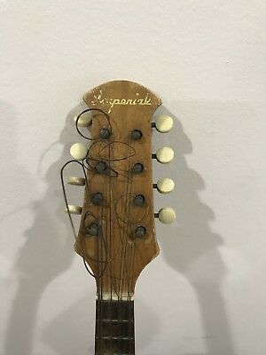 Antique Mandolin Lute Lady  Japan