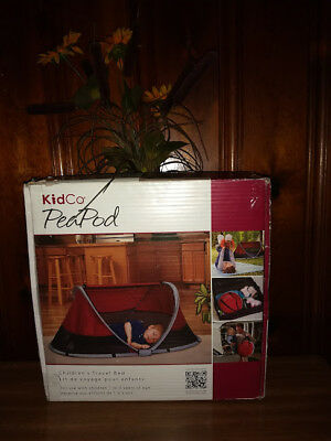 NEW KidCo Peapod Children's Travel Bed, Cranberry (Age 1-3) Model P3010)