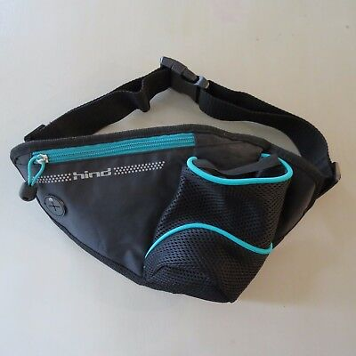 Hind Fanny Pack Travel Waist Band Bag Adjustable With Drink Holder Black Cycling