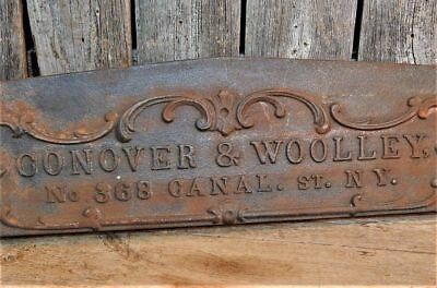 Rare Antique 19th Century Original 1844 Metal Canal St. New York Business Plaque