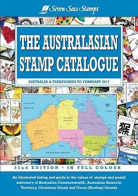 2017 32nd Edition Seven Seas Australasian Stamp Catalogue POSTED FREE NEW