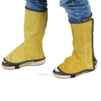 Welding Protective Overshoes Cow Leather Foot Cover Welder Work Clothing Part