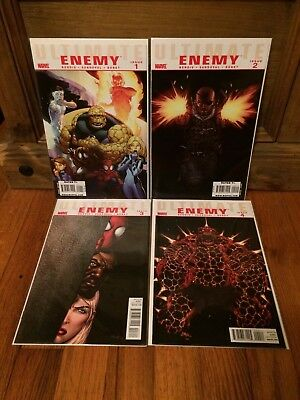 Complete Set Ultimate Enemy #1 2 3 4 Marvel Comics (2010) VF/NM Lot Bendis