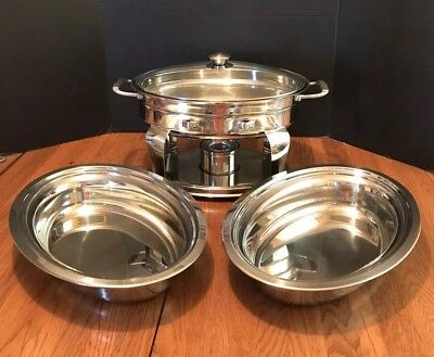 Tramontina ~ Professional Quality ~ Stainless Steel ~ 4.2 Qt. 3.9 L Chafing Dish