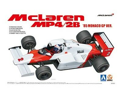 Aoshima 1/20 Plastic Model Kit Mclaren F-1 Mp4/2B 85 Monaco Gp Ver Aos008191