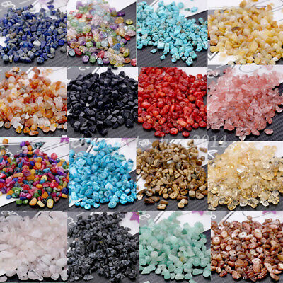 15g/Pack 3-10mm Natural Loose Stone Chips Beads DIY Jewelry Finding Strand