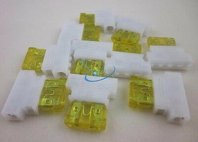 10pcs Auto Middle Medium Fuse Holder +20A Fuse for Car Boat Truck ATC/ATO Blade