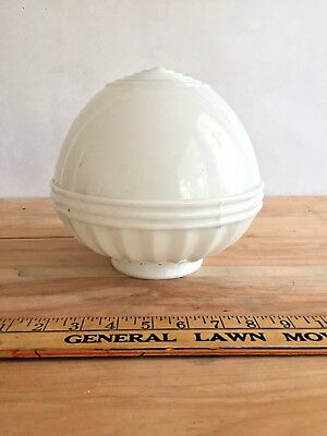 Antique Milk Glass lamp shade - Schoolhouse / Industrial style globe