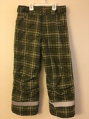 H & M Snow Pants Boys/Girls SZ: 10-11 Olive Green