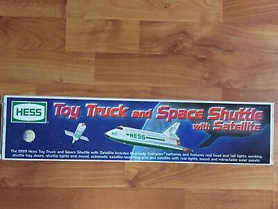 1999 Hess Toy Truck and Space Shuttle with Satellite  (shuttle doesn't light)