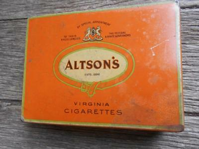 Vintage Altson's Virginia cigarettes tobacco tin Marsh of Melbourne smoking