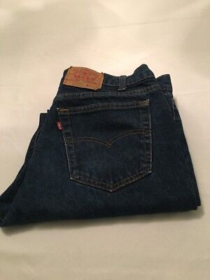 Vtg Rare Levis 606 No Redline Big E Jeans Made In USA 36/30 Actual