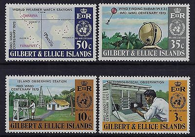 1973 Gilbert & Ellice Islands Meteorology Set Of 4 Fine Mint Mnh/muh