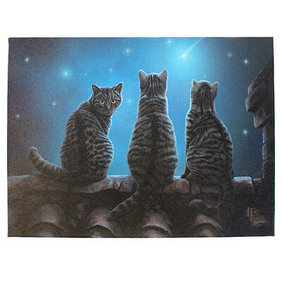 Lisa Parker Wish Upon A Star Cat Wicca Gothic Canvas Prints 25cmx19cm