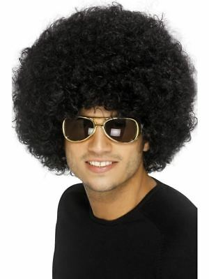 Smiffys 70s Funky Afro Wig Unisex - Black - One Size