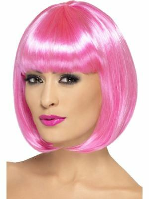Smiffys Partyrama Wig, 12 inch Female - Pink - One Size