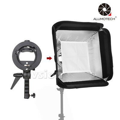 """16""""X16""""Softbox With Egg Crate S-type Speedlite Flash Bracket Mount+Carry Bag"""
