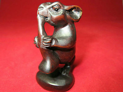 M047 Handcraft Boxwood Carved  mouse Steal to eat  pendent 20g