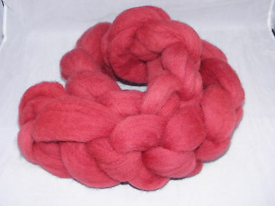 Hand Dyed Roving   Ox Blood Red 100g